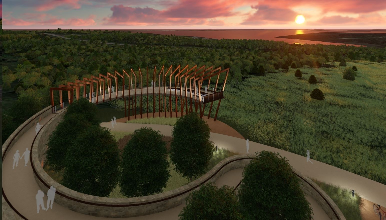 Artist Rendering of Overlook at Sunset