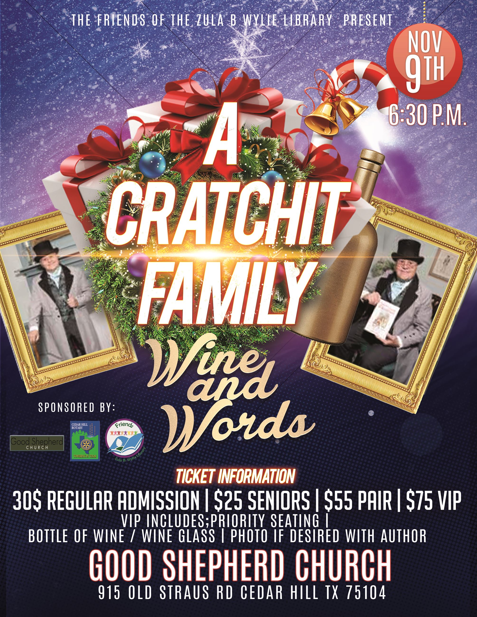 Friends Fundraiser A Cratchit Family Christmas